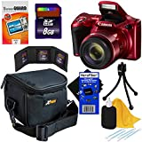 Canon Powershot SX420 IS 20 MP Digital Camera with 42x Optical Zoom and Built-In Wi-Fi, Red (International Version) + 7pc 8GB Accessory Kit w/ HeroFiber Ultra Gentle Cleaning Cloth