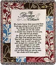 The Broken Chain Tapestry Bereavement Throw Blanket 50 X 60 In