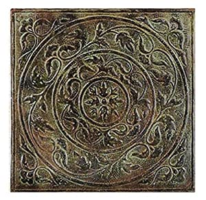 "Twelve (12) Antique Style Metal Square Wall Tiles 12""X12"""