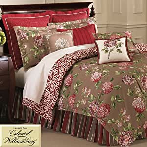 Williamsburg charlotte comforter set queen for Kitchen queen set