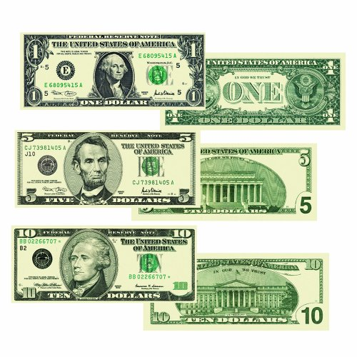 Carson Dellosa Money, U.S. Bills Shape Stickers (5282)