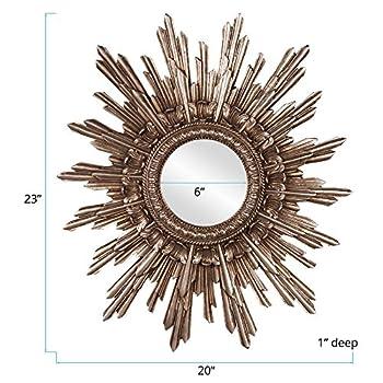 Howard Elliott 84008 Chelsea Antique Starburst Mirror, Silver