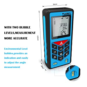 Distance Measurer 131ft/40m Handheld Range Finder Meter Tuirel T40 Measuring Device with Pythagorean Theorem Mode