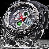 EPOZZ Men Sports Waterproof 50 Male Week Alarm Digital Watch black