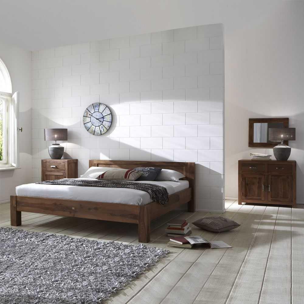 Schlafzimmermöbel Set Khawala aus Sheesham Massivholz (4-teilig) Pharao24 günstig online kaufen