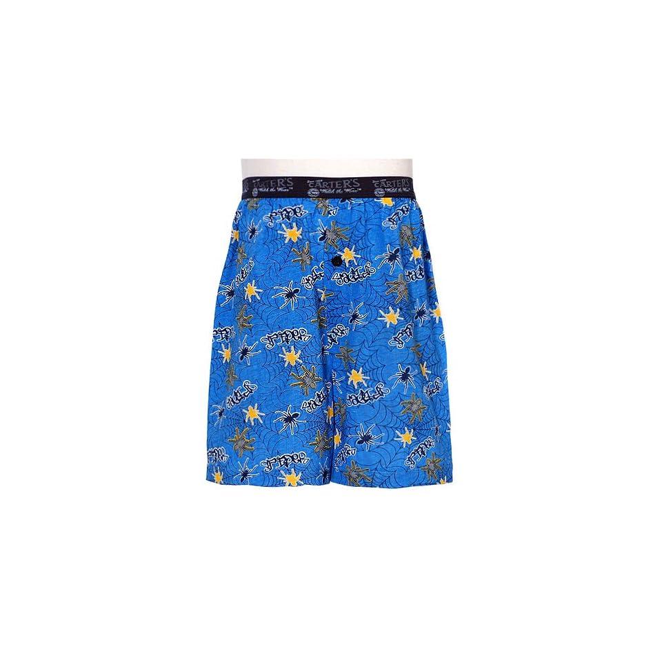 Little Boys Blue Yellow Spider Web Boxer Shorts Underwear 4 18 No Clothing