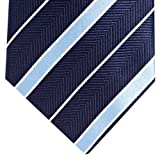 Osborne Dark Blue Stripe Patterned Tie
