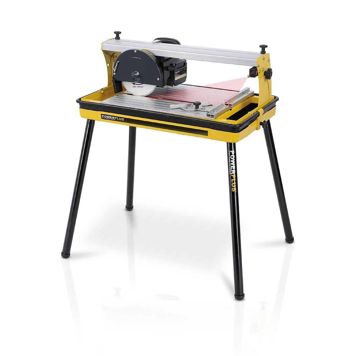 Fliesenschneidemaschine Fliesenschneider Nassschneider 600W mit Laser, DiamantTrennscheibe und Wasserbehälter  Art. POWX240  BaumarktKundenbewertung und weitere Informationen