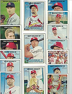St. Louis Cardinals / 2016 Topps Heritage Baseball Team Set. FREE 2015 Topps Cardinals Team Set WITH PURCHASE!