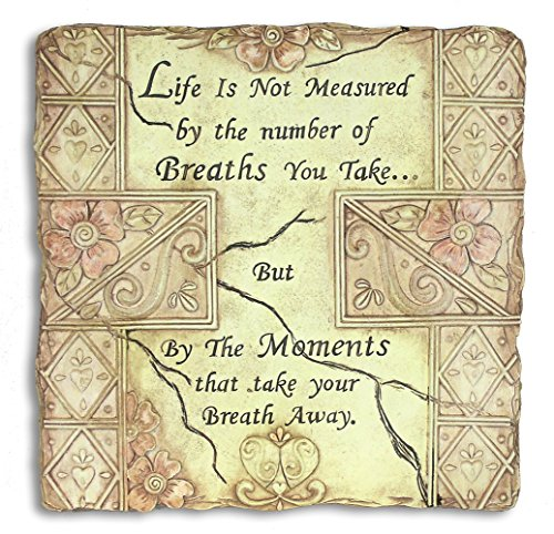 Life Is Not Measured By the Number of Breaths We Take - Garden Stone - Engraved Inspirational Saying Garden Plaque - Stepping Stones