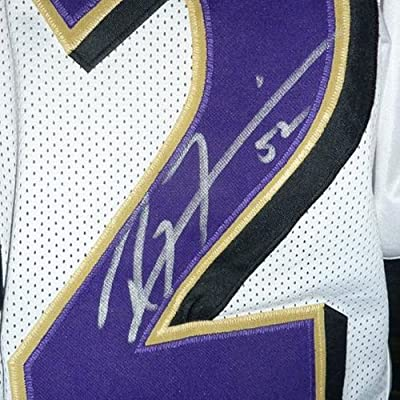 Ray Lewis Autographed Baltimore Ravens (White #52) Jersey