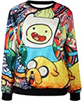 TDOLAH Galaxy Pullover Jumpers Colorful Sweatshirts Printed Sweaters for Women