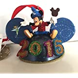 Disney Parks 2015 Light Up Mickey Mouse Ears Hat Ornament NEW