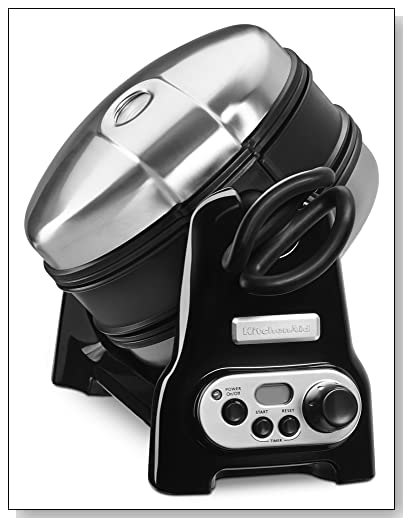 KitchenAid KWB110OB Waffle Baker with CeramaShield Nonstick Coating - Onyx Black