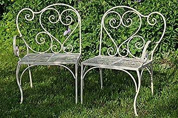 Muebles de Jardín Verena Hierro mesa silla asiento Banco Crema
