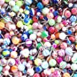 Belly Ring Assorted Lot of 25 Belly Button Rings Assorted Navel Rings with Alcohol Pad Surgical Steel 14 Gauge Banana Piercing (25 Pieces)