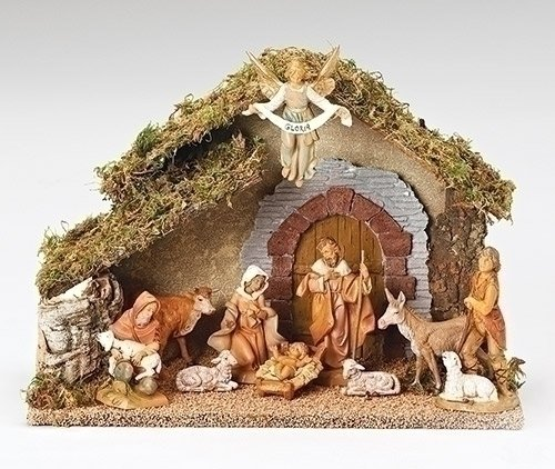 10 Piece Fontanini 5 Religious Christmas Nativity Set