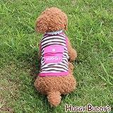 ドッグウェア 犬服 ペット洋服 クールウェア☆保冷剤1個付き☆ポケット付きボーダータンクトップ(ピンク)Mサイズ
