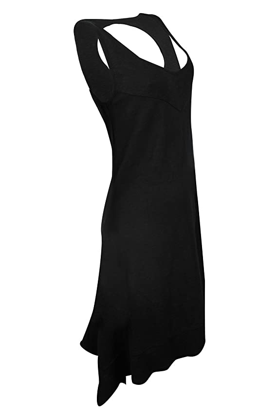 DKNY Women's Black Cut-Off Back Tee Dress