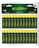 Perfpower Go Green, Aa Alkaline Battery, 48-Pack, 48-Count