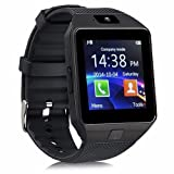 DZ09 Bluetooth Smart Watch - Aeifond Touch Screen Smart Wrist Watch Smartwatch Phone Fitness Tracker with Camera Pedometer SIM TF Card Slot for iPhone iOS Samsung Android for Kids Women Men (Black) (Color: Black)