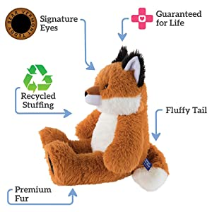 Vermont Teddy Bear Stuffed Fox - Oh So Soft Fox Stuffed Animal, Plush Toy for Kids, Red, 18 Inch (Color: Fox, Tamaño: 18 inches)