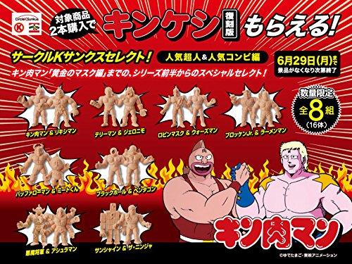 キン肉マン 復刻版 キンケシ 肌色 全8組16種セット サークルK サンクス 限定