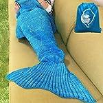 LAGHCAT Mermaid Tail Blanket Crochet...