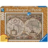 Ravensburger 19004 - Antike Weltkarte - 1000 Teile Holzstruktur Puzzle