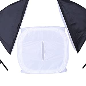 Table Top Photo Studio Mini Softbox 16x16 inch (40x40cm) Foldable Light Shooting Tent Cube Soft Box for Photography (Color: 16x16x16, Tamaño: 16x16x16inch)