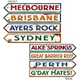 Australian Street Sign Variety of International Cutouts for Party Decoration & Accessories etc...