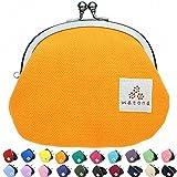 watona 帆布がま口 3.3寸丸形小銭入れ (オレンジ)