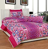 Soni Traders Floral Print Polycotton Double Bedsheet With 2 Pillow Covers (BST_172)