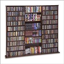 """CD Rack - 1500 Veneer (Walnut) (63 3/4""""H x 65 5/6""""W x 9 1/2""""D)"""