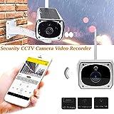 Wireless 1080P Security Camera Waterproof Outdoor 1080P 2.0M Solar Battery Power Surveillance Security CCTV Camera for Baby/Elder/ Pet/Nanny Monitor, Pan/Tilt, Two-Way Audio & Night Vision (Color: Multi, Tamaño: 1)