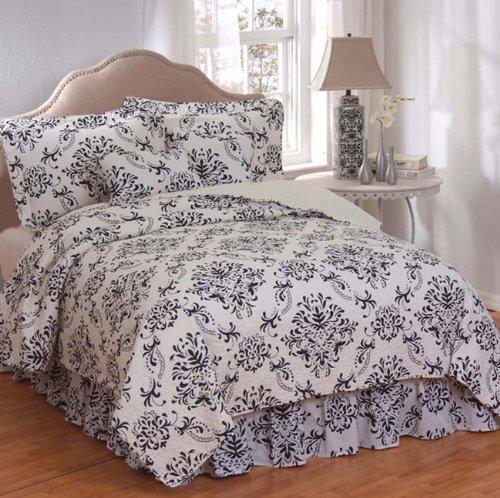 French country bedding aussino chandon 100 percent cotton 6 piece quilt set king - Fleur de lis comforter ...