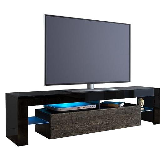 Kofkever Cesare Porta Tv Nero/Wengè mobile portatv soggiorno. Moderni mobili porta tv