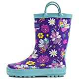 Lone Cone Children's Waterproof Rubber Rain Boots in Fun Patterns with Easy-On Handles Simple For Kids, Bippity Boppity Fairy Boots, 6 M US Toddler (Color: Bippity Boppity Fairy Boots, Tamaño: 6 M US Toddler)