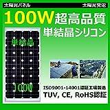 100W単結晶シリコンソーラーパネル SP100