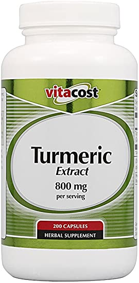 Отзывы Vitacost Turmeric Extract -- 800 mg per serving - 200 Capsules