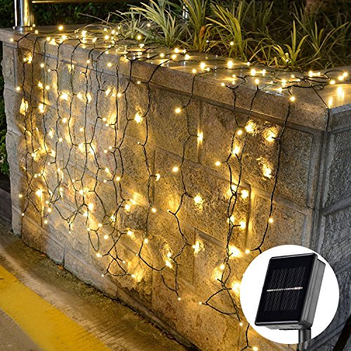 [72ft 200 Led] Solar Outdoor String Lights Fairy Outdoor Lighting, 8 Mode (Steady, Flash ...