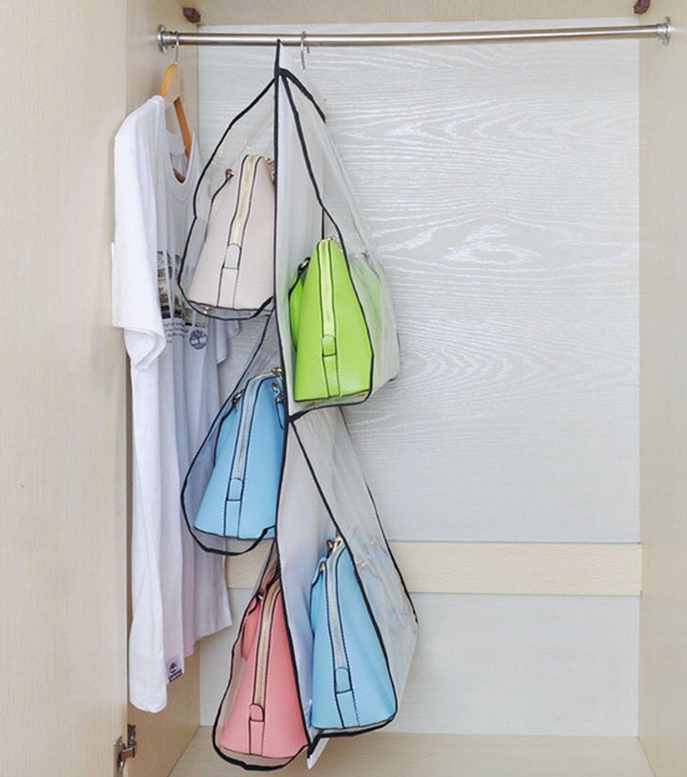 Hanging Handbag Organizer Closet Storage Purse Hanger Rack ...