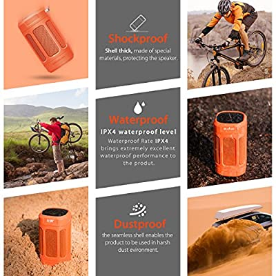 BEASON Ultra Portable Bluetooth Speaker with 15 Hours Playtime, Deep Bass Hi-Fi Sound Outdoor Party Camping Water Resistant Wireless Bluetooth 4.0 Speaker