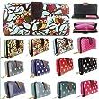 Miss Lulu Designer Oilcloth Owl Spot Polka Dots Folded Zip Wallet Purse Bag (Owl Beige)