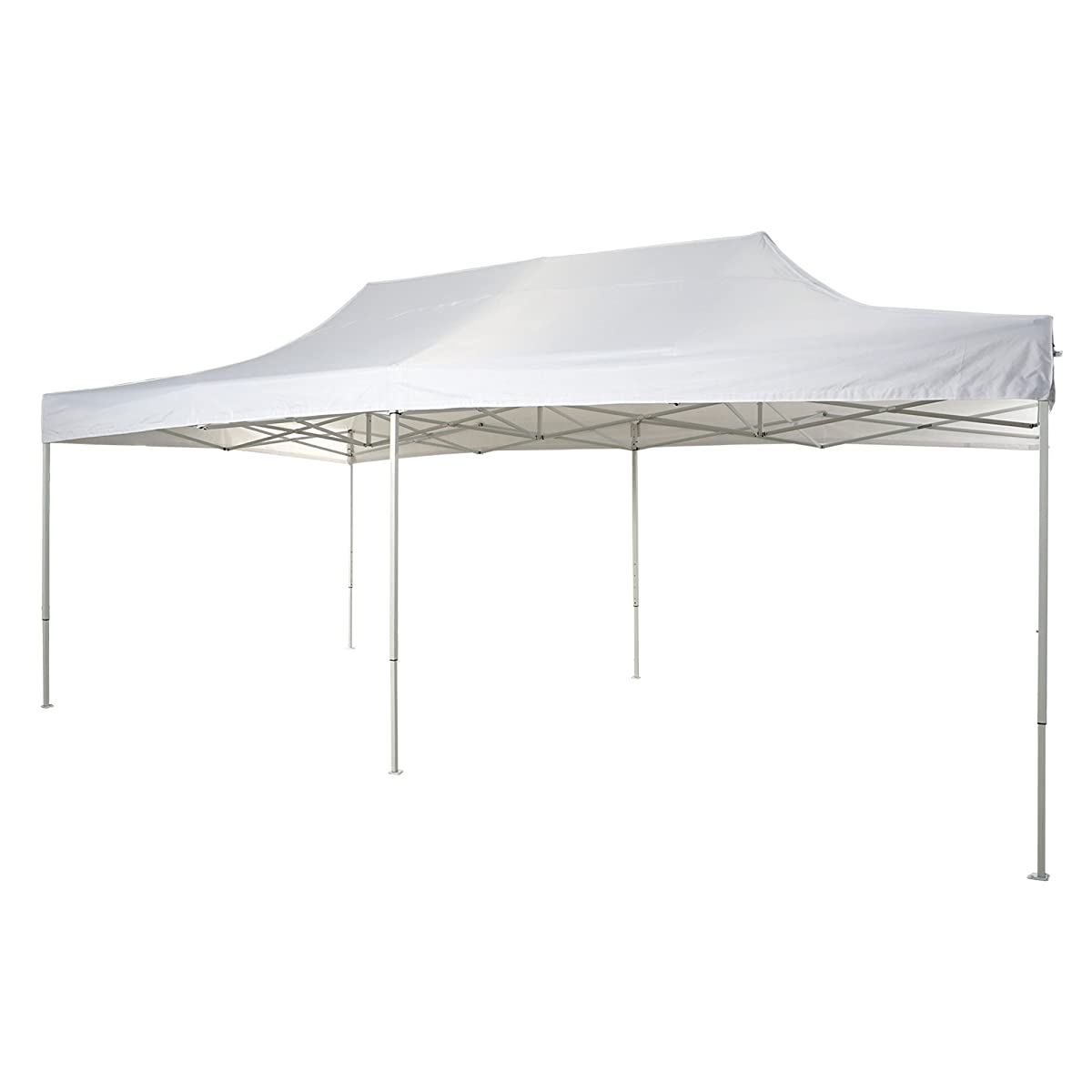 Patio Commercial Canopy White Steel Frame Heavy Duty Pop Up Party ...