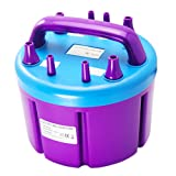 HUKOER Four Nozzles Electric Balloon Inflator Pump 110v (Color: Purple)