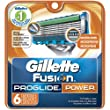 Gillette Fusion Proglide Power Cartridge 6 Count Unit