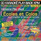 "CD Karaoké Play-Back KPM Vol.43 ""Ecoles et Colos"""