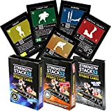 Exercise Cards Tri Pack: Strength Stack 52 Bodyweight Workout Cards. Designed By Military Fitness Expert. Fitness Cards Include Video Instructions. No Equipment Needed. Fun, Motivating at Home Workout Programs