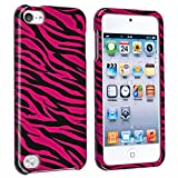 eForCity Snap-On Case for Apple iPod touch 5G, Hot Pink/Black Zebra